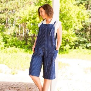 Other - Striped Overall Dungarees with adjustable straps